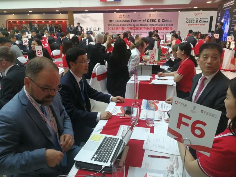参加2019年中国-中东欧中小企业跨境对接会